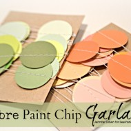 (craft tutorial) ombre paint chip garland