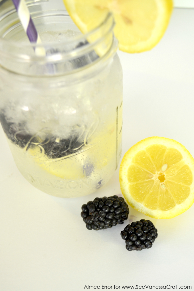 Frozen Blackberry Lemonade Recipe via www.seevanessacraft.com