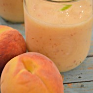 Peach and Cream Smoothie via www.seevanessacraft.com