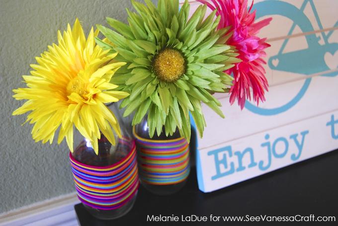 Craft Tutorial Colorful Hair Tie Vase See Vanessa Craft
