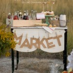 (the party hop) market banner, paper pumpkins, printable pie sign