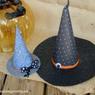DIY Halloween Witch Hats/ Sweet Tea & Saving Grace for www.seevanessacraft.com