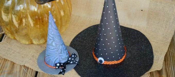 DIY Halloween Witch Hats/ Sweet Tea & Saving Grace for www.seevanessacraft.com