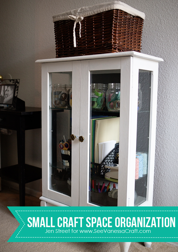 Craft Spaces Organizing A Small Craft Cabinet See Vanessa Craft