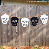 (30 crafty days of halloween) 3 minute halloween skull banner