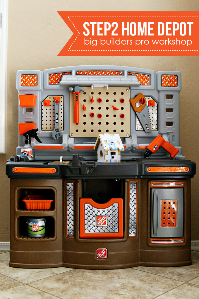 review) step2 home depot big builders pro workshop - see vanessa craft