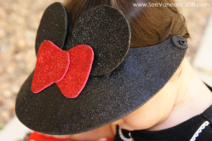 7a1ff49f4 craft tutorial) disney minnie mouse visor hat - See Vanessa Craft
