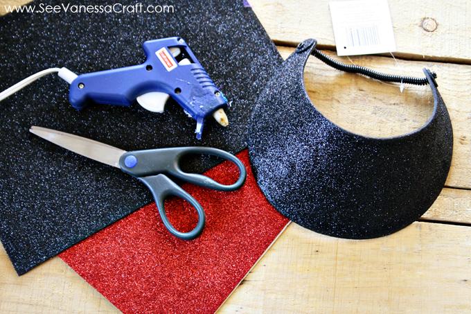 craft tutorial) disney minnie mouse visor hat - See Vanessa Craft 0379faf99428
