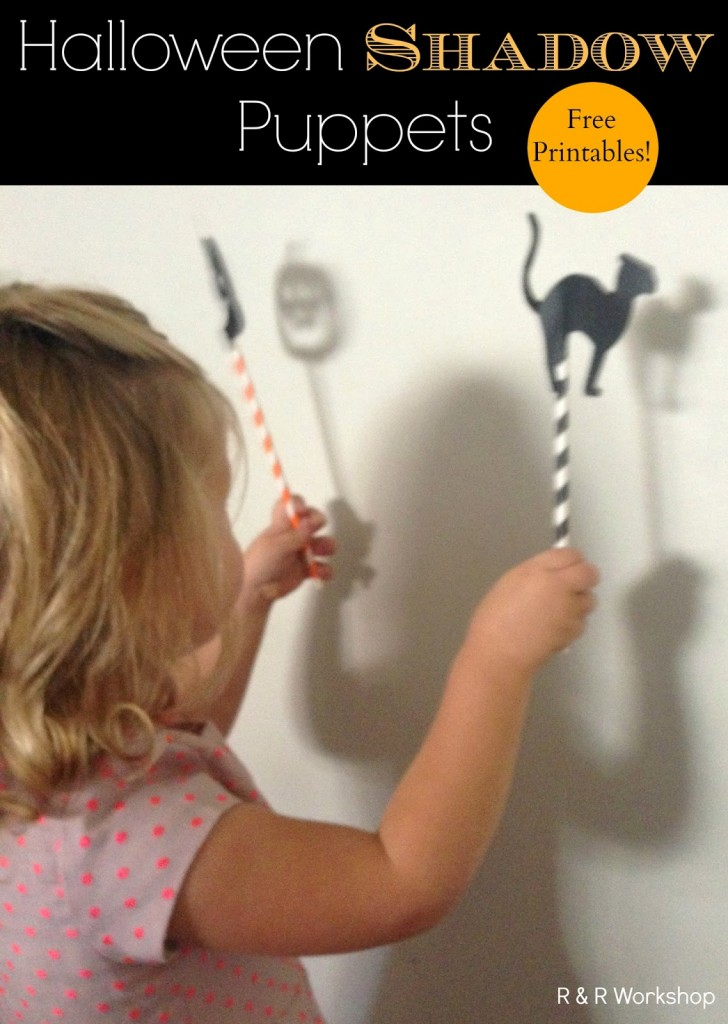 Halloween Shadow Puppets / www.seevanessacraft.com