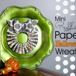(30 crafty days of halloween) mini ruffled paper halloween wreath