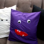 (30 crafty days of halloween) easy monster pillow