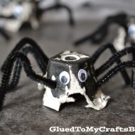 (30 crafty days of halloween) egg carton spider kid craft