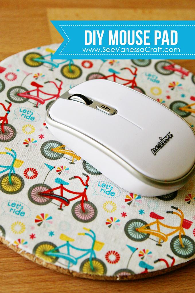 craft tutorial diy fabric mouse pad