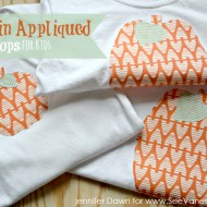 pumpkin appliqued tops for kids