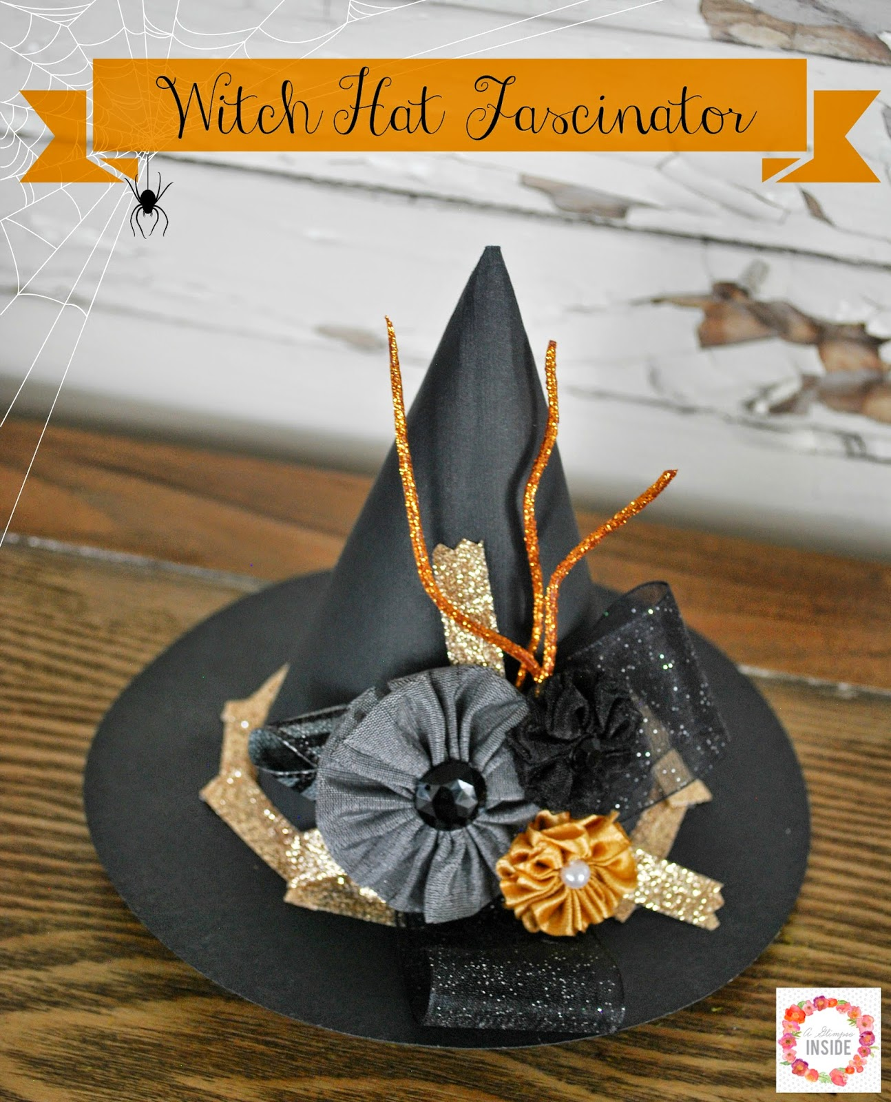 (30 crafty days of halloween) witch hat fascinator - See ...