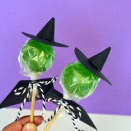 (30 crafty days of halloween) witch lollipop craft