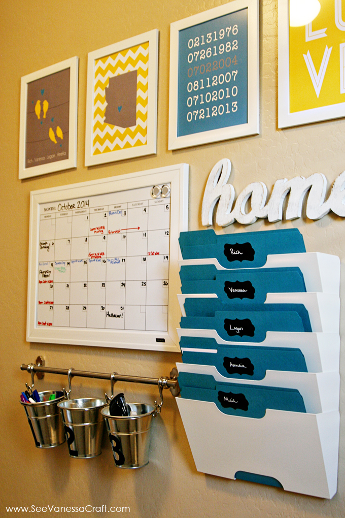Calendar For Home Organization : Organization family command center see vanessa craft