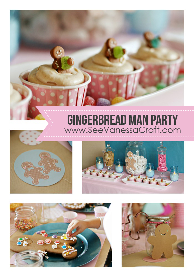 Gingerbread Man Party www.seevanessacraft.com