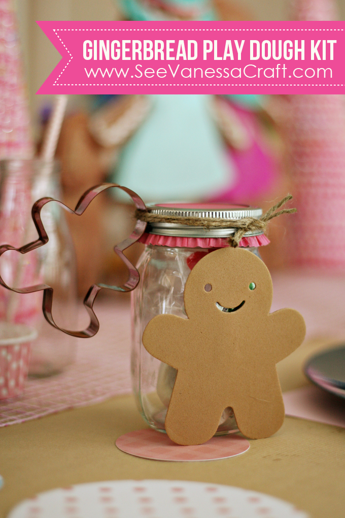 Gingerbread Playdough Kit Gift | www.seevanessacraft.com