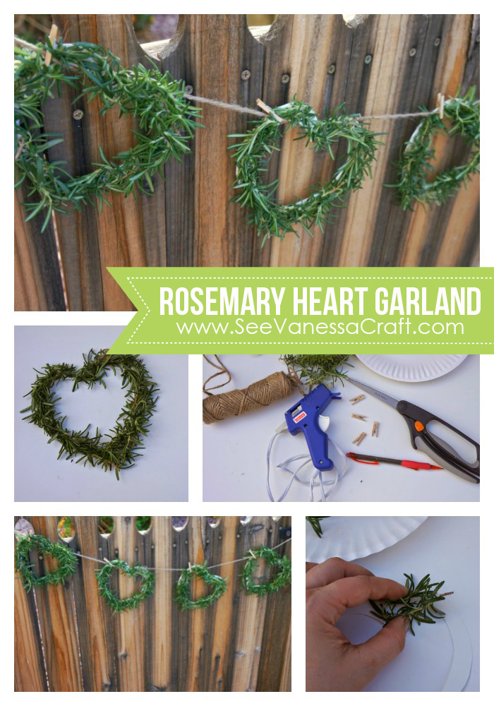 Rosemary Heart Garland