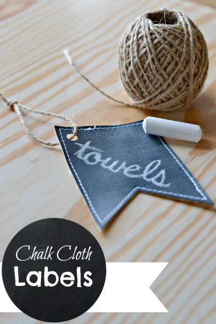 chalk cloth labels with chalkboard title