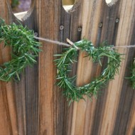 Craft | Rosemary Heart Garland