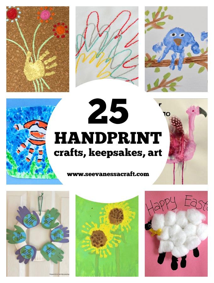 25 Handprint Crafts for Kids