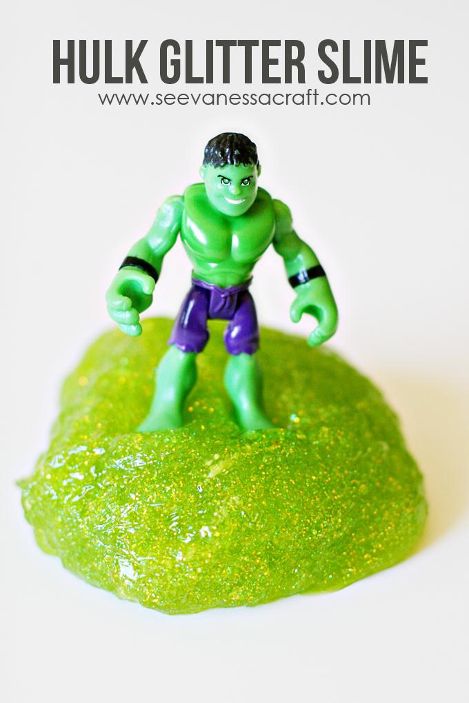 Hulk Green Glitter Slime