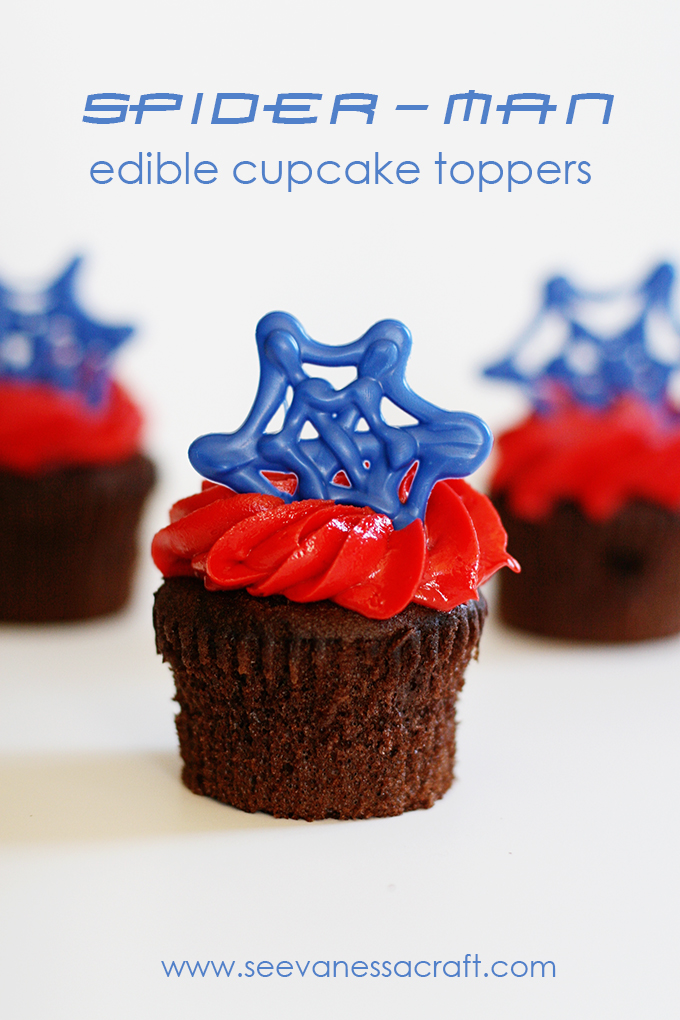 SpiderMan Cupcake Topper 5 web