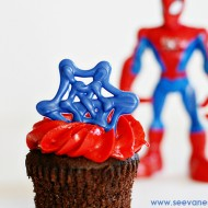 Craft: Spider-Man Cupcake Toppers