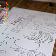 Printable: Easter Coloring Page Placemats