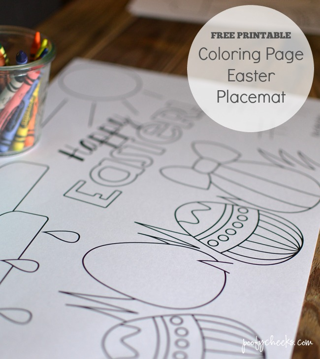 Printable Easter Coloring Page Placemats