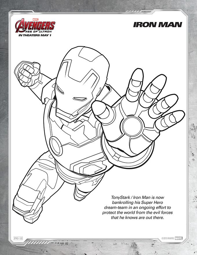 Avengers Coloring Sheet1