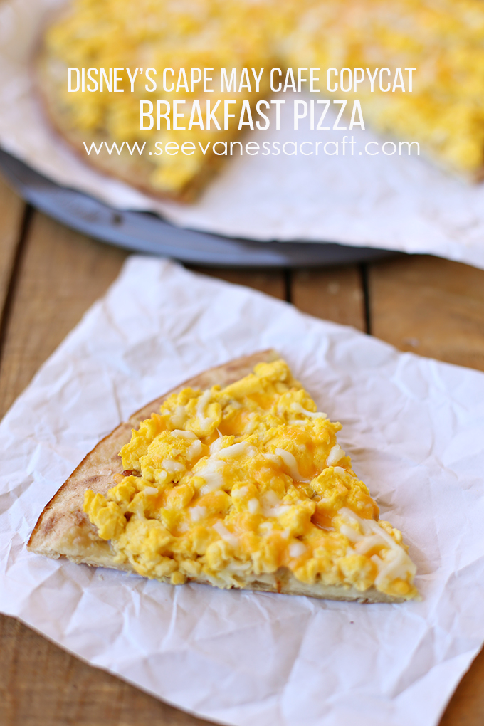 Disney Copycat Breakfast Pizza