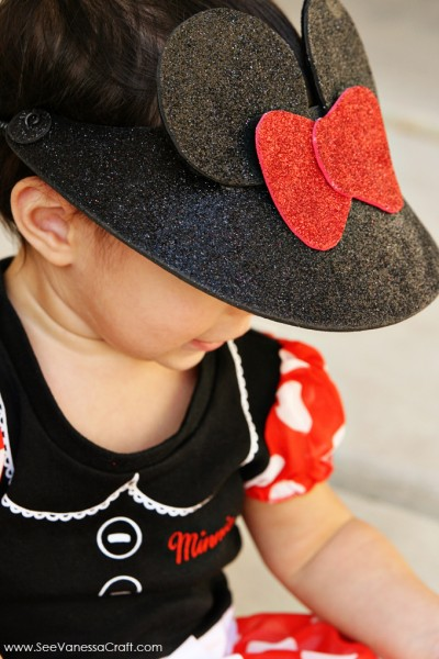 Minnie Mouse Visor Craft