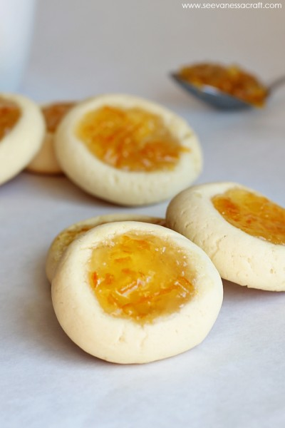 Paddington Orange Marmalade Thumbprint Cookies