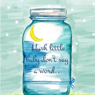 Printable: Hush Little Baby Nursery Decor
