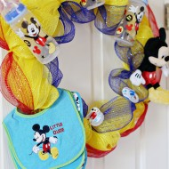Craft: Disney Baby Shower Wreath