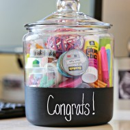 New Job Gift Chalkboard Jar