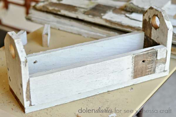 shabby chic trough