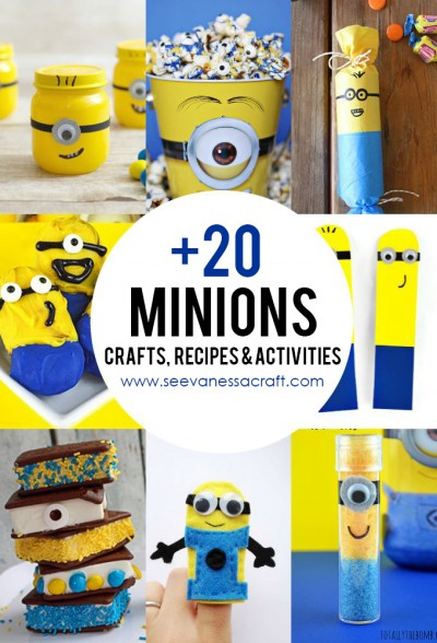 +20 Minions Crafts, Recipes and Activities