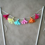 Craft: Tissue Tassel Garland Cake Topper
