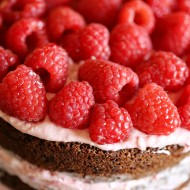 Naked Chocolate Raspberry Cake