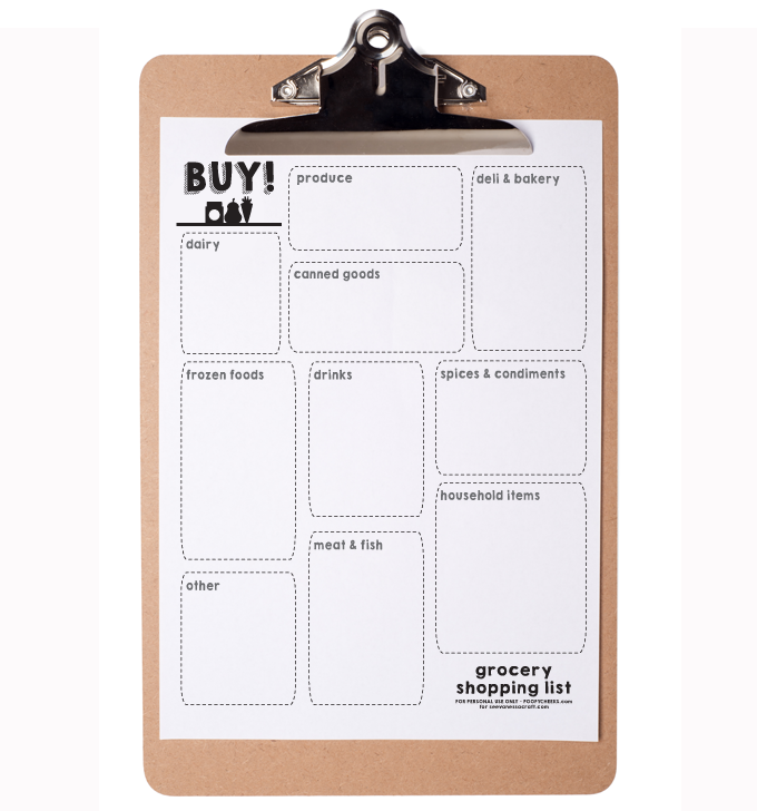 Meal Planning and Grocery List Printables