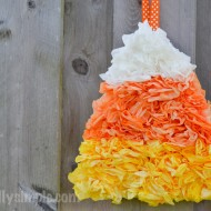 Halloween Coffee Filter Candy Corn Decor