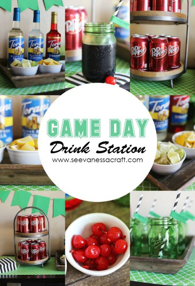 Game Day Football Party Drink Station