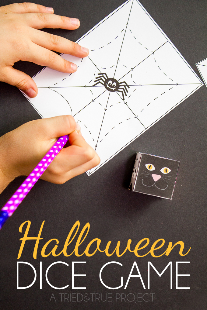 Halloween: Dice Game for Kids - See Vanessa Craft