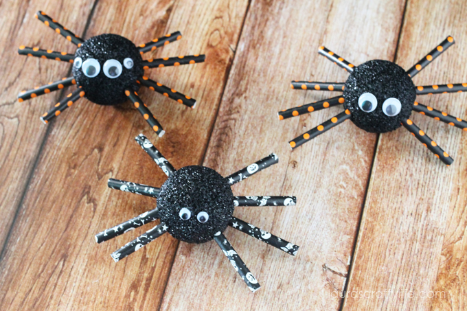 Halloween-Foam-Spiders-Lauras-Crafty-Life