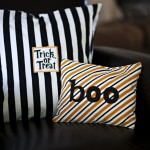 Halloween: Target Dollar Bin Tea Towel Pillows