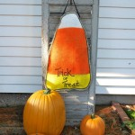 Halloween: Painted Burlap Candy Corn